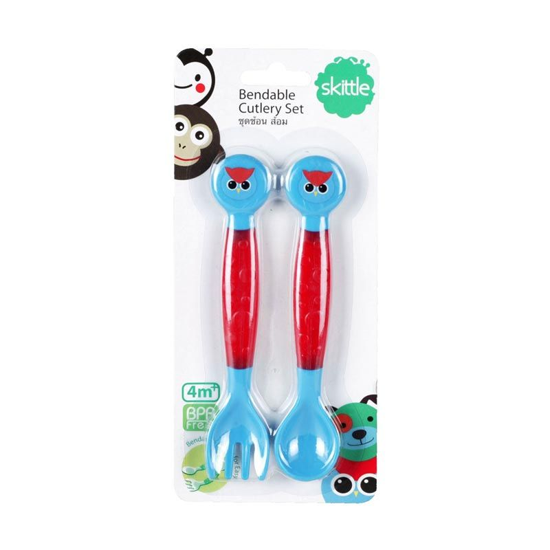 Skittle Bendable Cutlery Set Owl