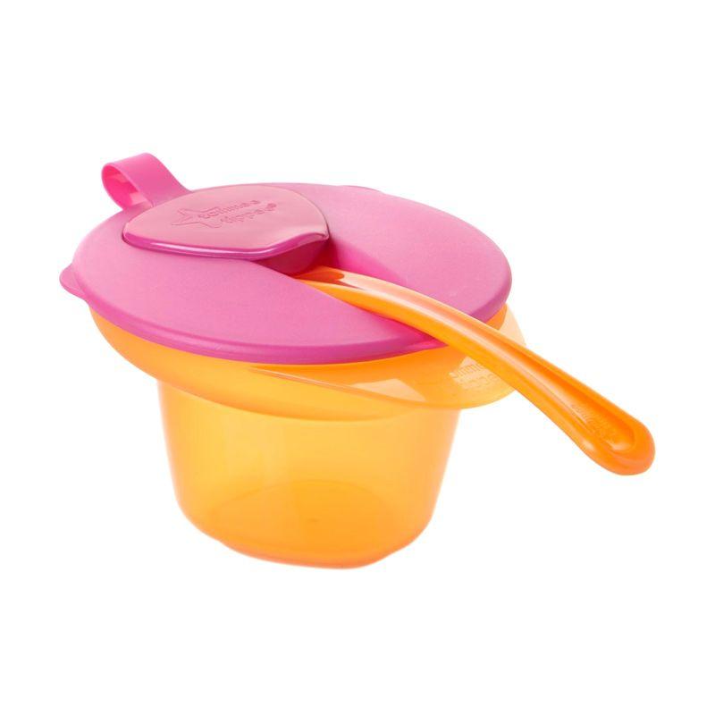 Tommee Tippee Explora Weaning Bowl Orange Pink Tempat Makan Bayi