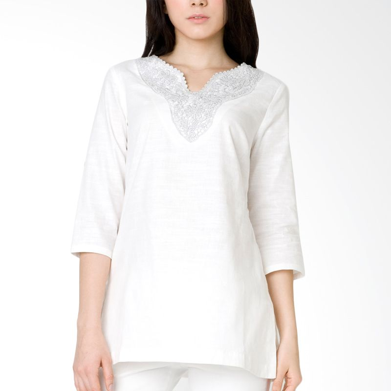 The Executive BLL-209-5111-15 White Baju Muslim
