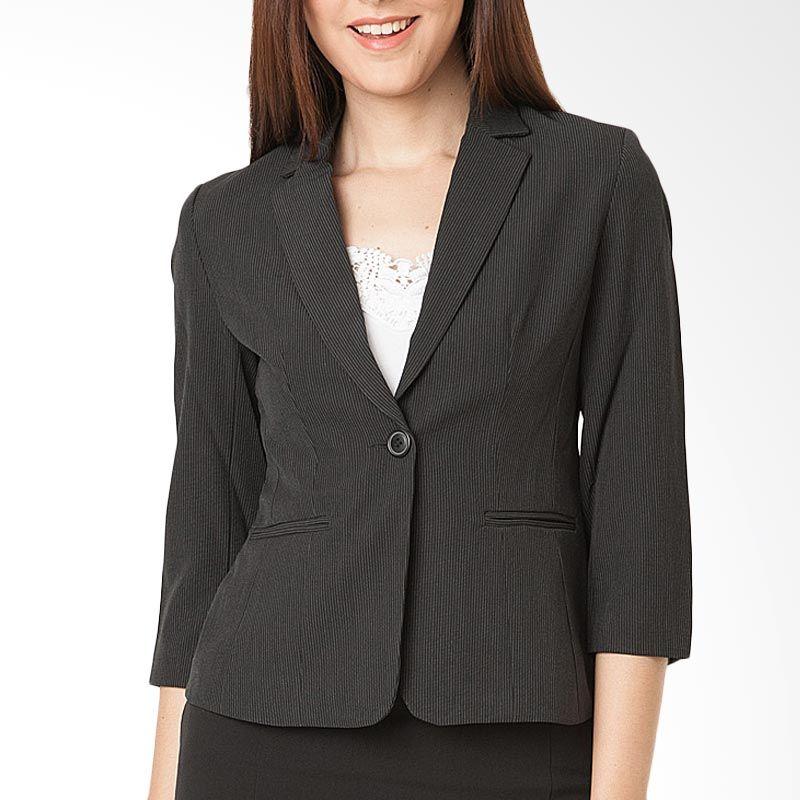 The Executive BZC-101-5114-15 Black Blazer Wanita