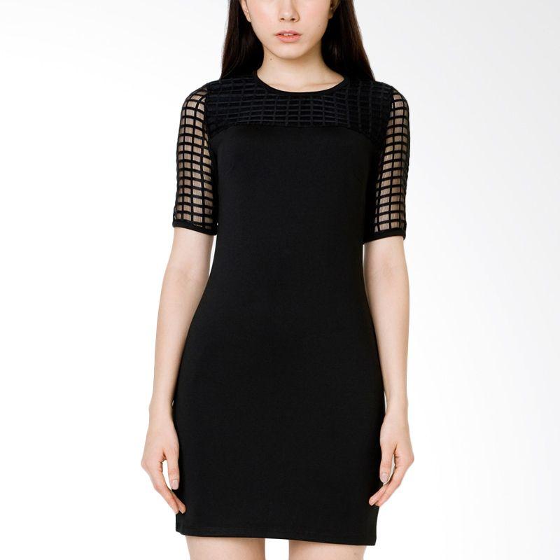 The Executive DRC-115-5211-15 Black Midi Dress