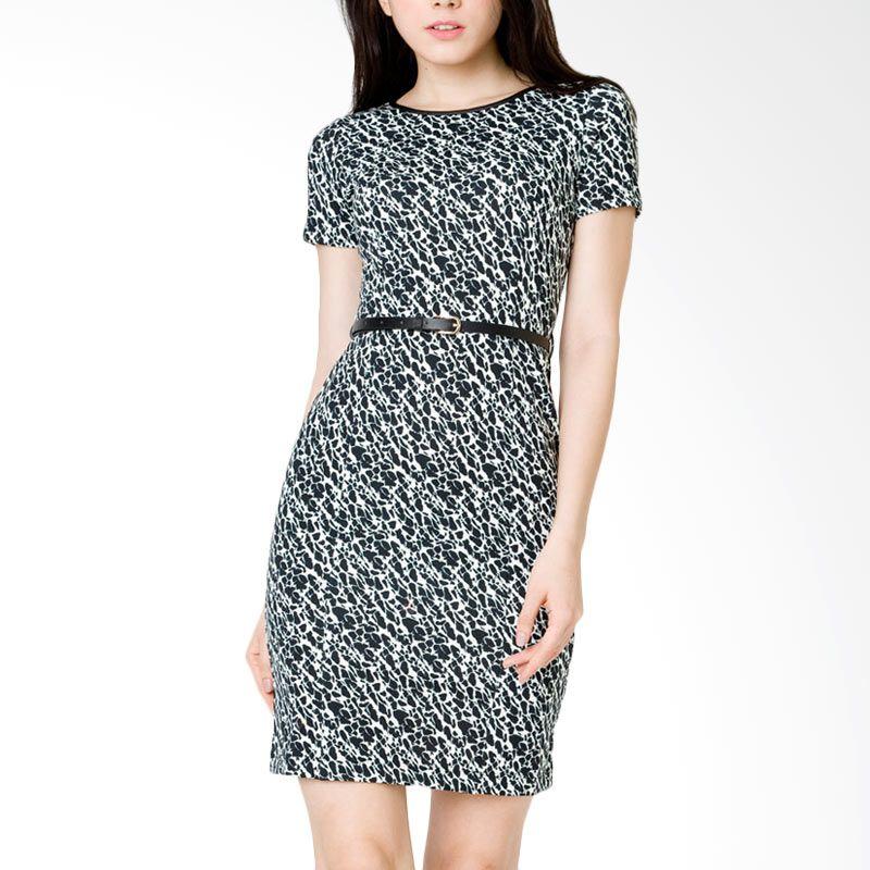 The Executive DRC-120-5211-15 Black Midi Dress