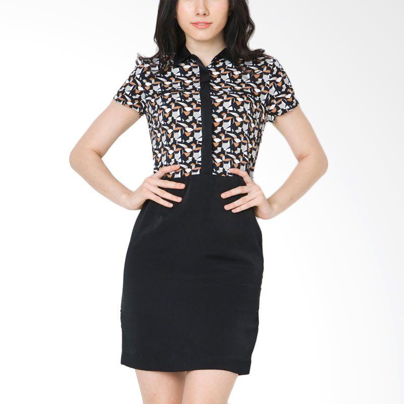 The Executive DRC-202-5114-15 Black Midi Dress
