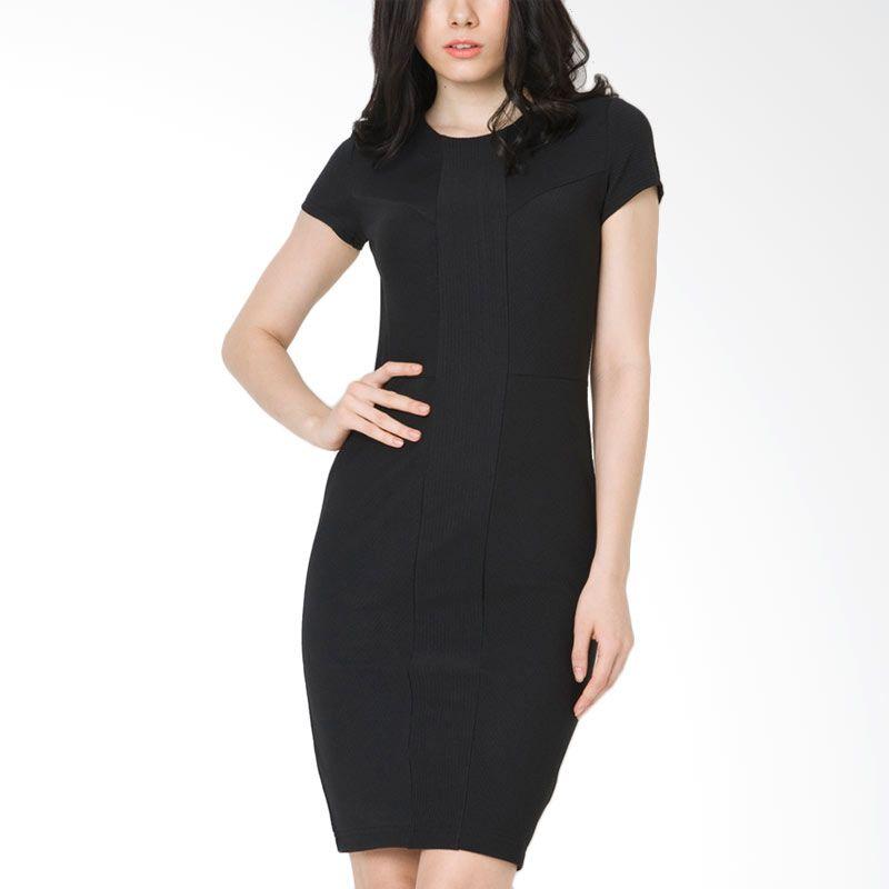The Executive DRC-206-5211-15 Black Midi Dress