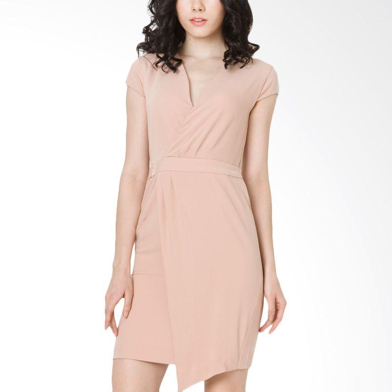 The Executive DRC-209-5114-15 Khaki Midi Dress