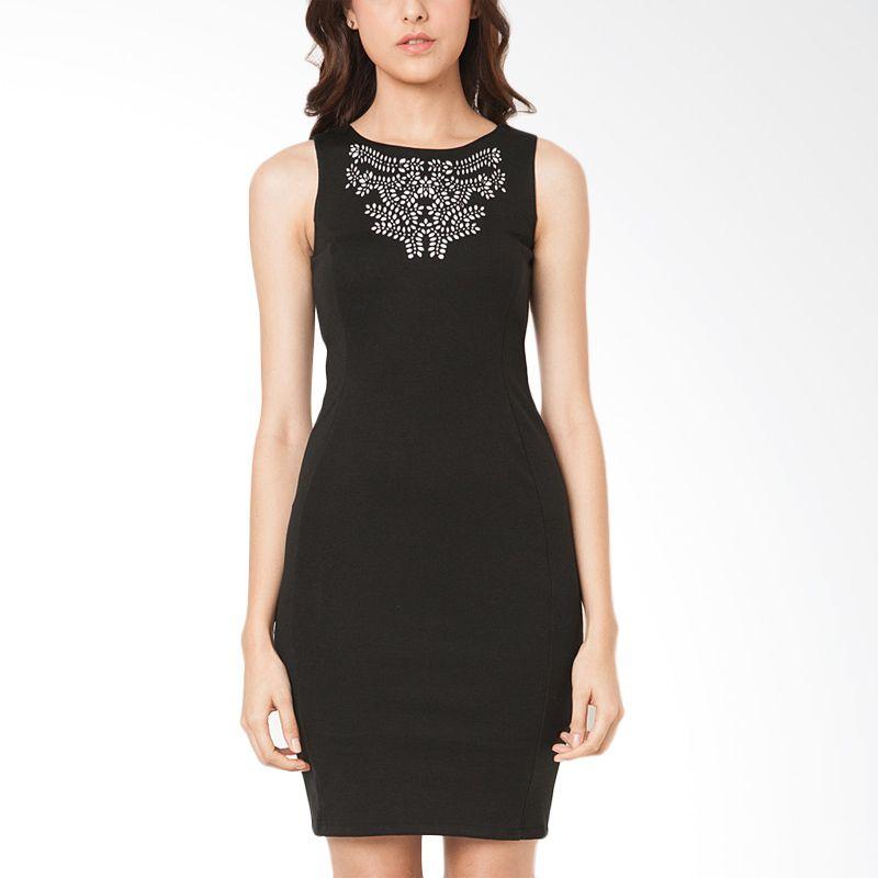 The Executive DRF-105-5211-15 Black Midi Dress