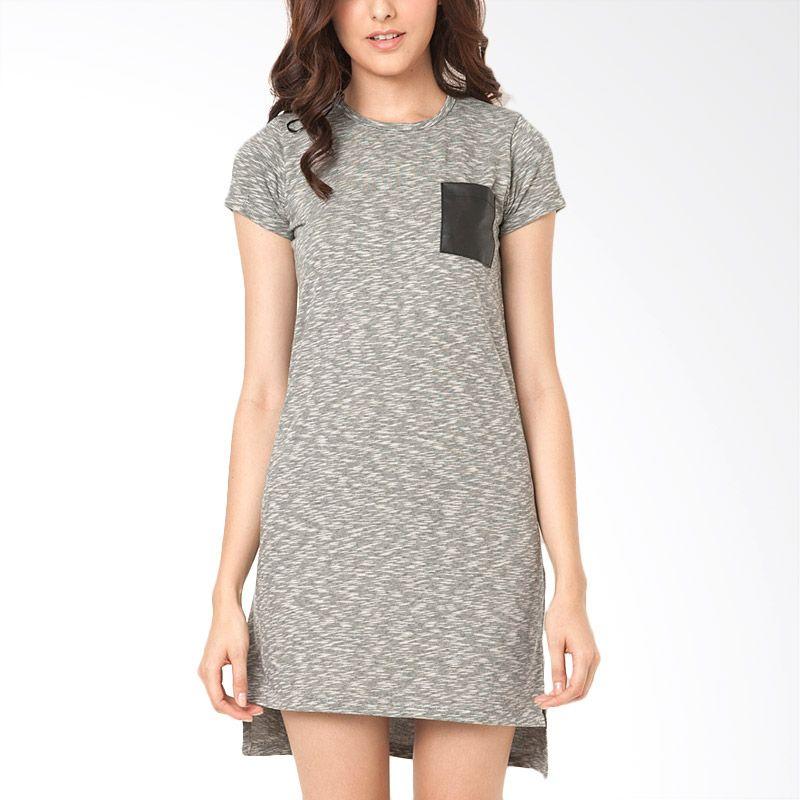 The Executive DRTX-108-521115 Misty Grey Midi Dress