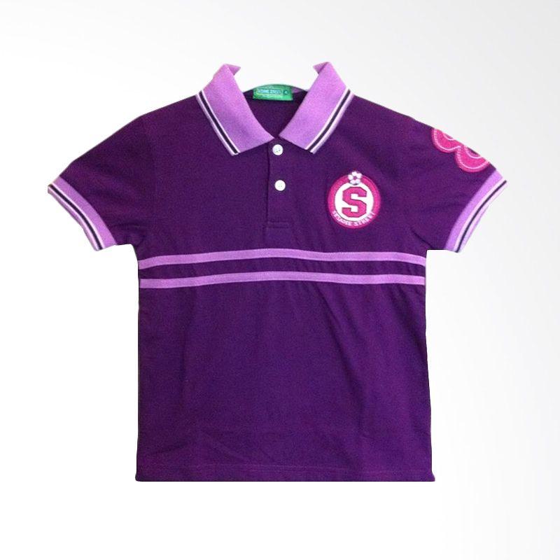 Sesame Street Collar Purple Atasan Anak Laki-laki