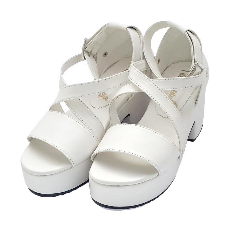The Queen Shoen Heels - White
