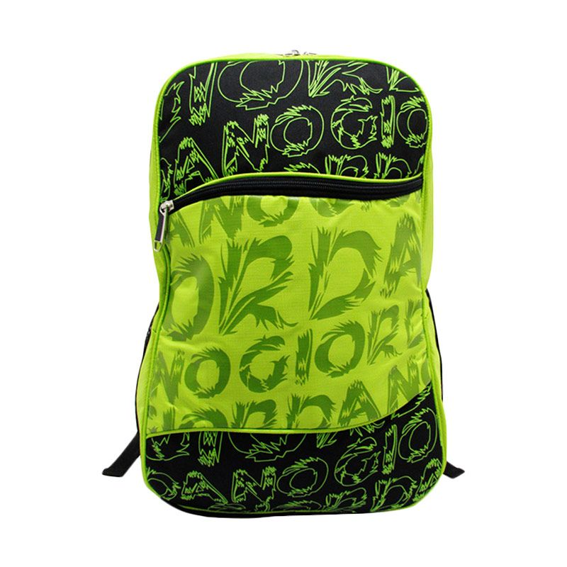 Giordano Fashion School Collection Bag G.7127 Hitam Hijau Tas Ransel Wanita
