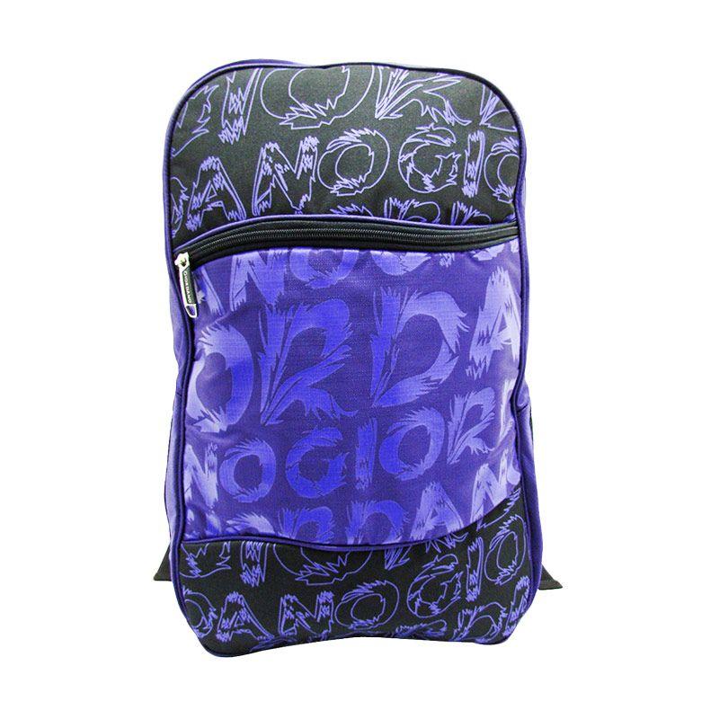 Giordano Fashion School Collection Bag G.7127 Hitam Ungu Tas Ransel Wanita