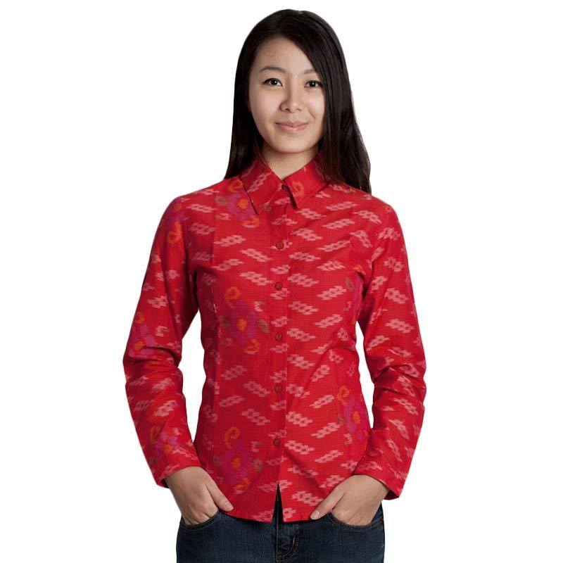 The Y Label Summer Soul Long Sleeve Red Full Pattern
