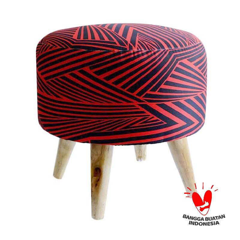 Ayoyoo Cherry Asteria Moon Stool - Red