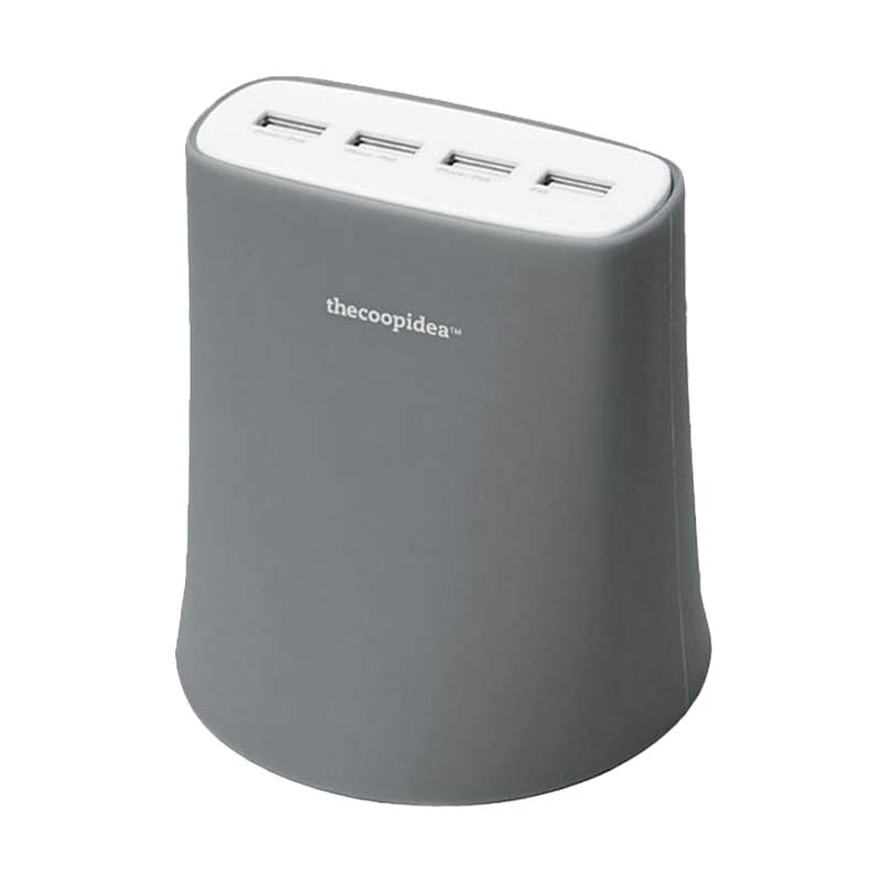 Thecoopidea Jelly Charger - Grey [4 Port USB/5.1A]