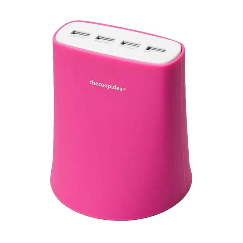 Thecoopidea Jelly USB Charger - Pink [4 Port USB/5.1A]