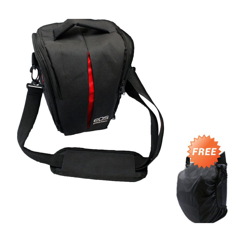 Third Party Kode U Tas Kamera For Canon Eos + Rain Cover