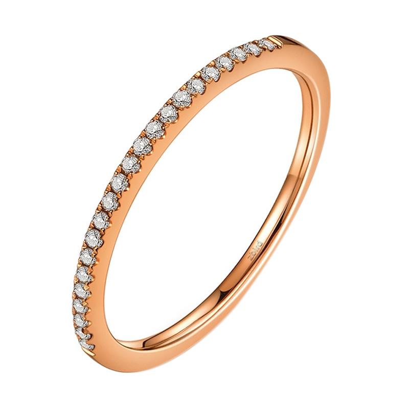 Tiaria Princes 22 Diamond Cincin Emas - Rose Gold 18K
