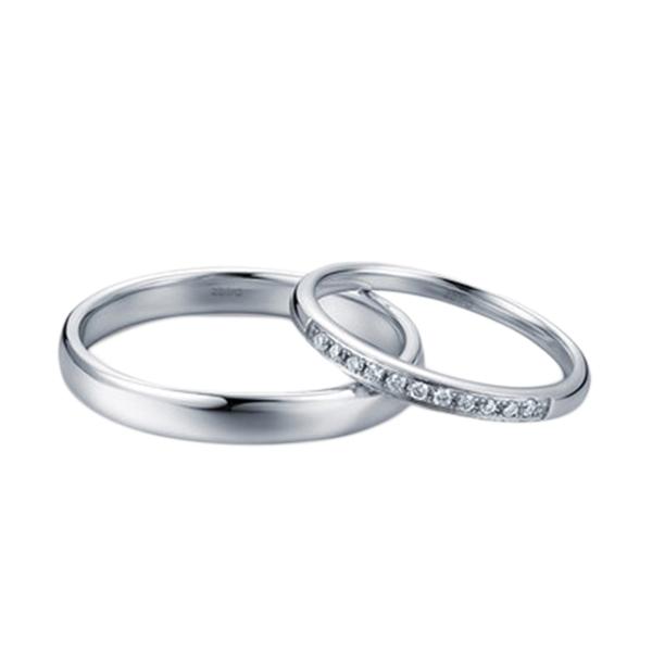 Tiaria Resplendent Diamond Cincin Emas Putih [18K]