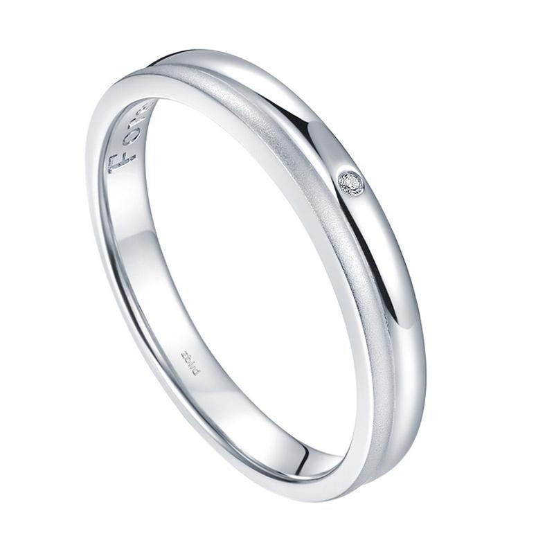 Tiaria Soulmate Diamond cincin tunangan berlian emas [18K]