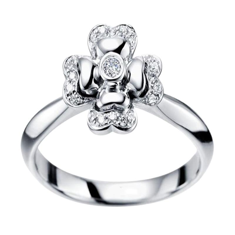 Tiaria Tormentil Diamond cincin tunangan berlian emas [18K]