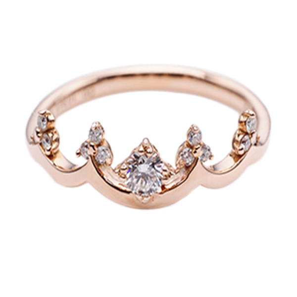 Tiaria DMKMJZ010 Cincin - Rose Gold