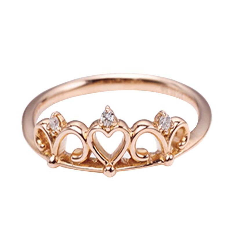 Tiaria DMKMJZ016 Cincin Berlian Emas 18K - Rose Gold