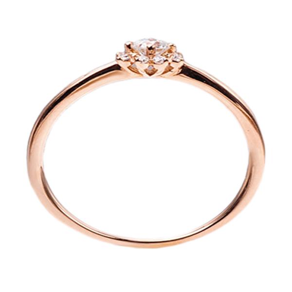 Tiaria DMKMJZ001 Cincin Berlian Emas 18K - Rose Gold