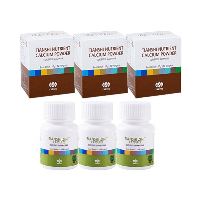 Tiens Peninggi Badan Suplemen [Paket 1 Bulan/3 NHCP/3 Zinc]