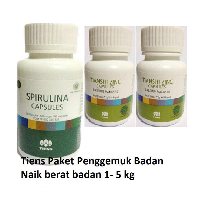 TIENS Paket Penggemuk Badan Suplemen [2 Zinc + 1 Spirulina]