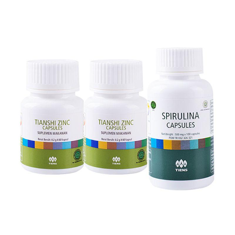 Tiens Penggemuk dan Penambah Nafsu Makan Suplemen [2 Zinc + 1 Spirulina]