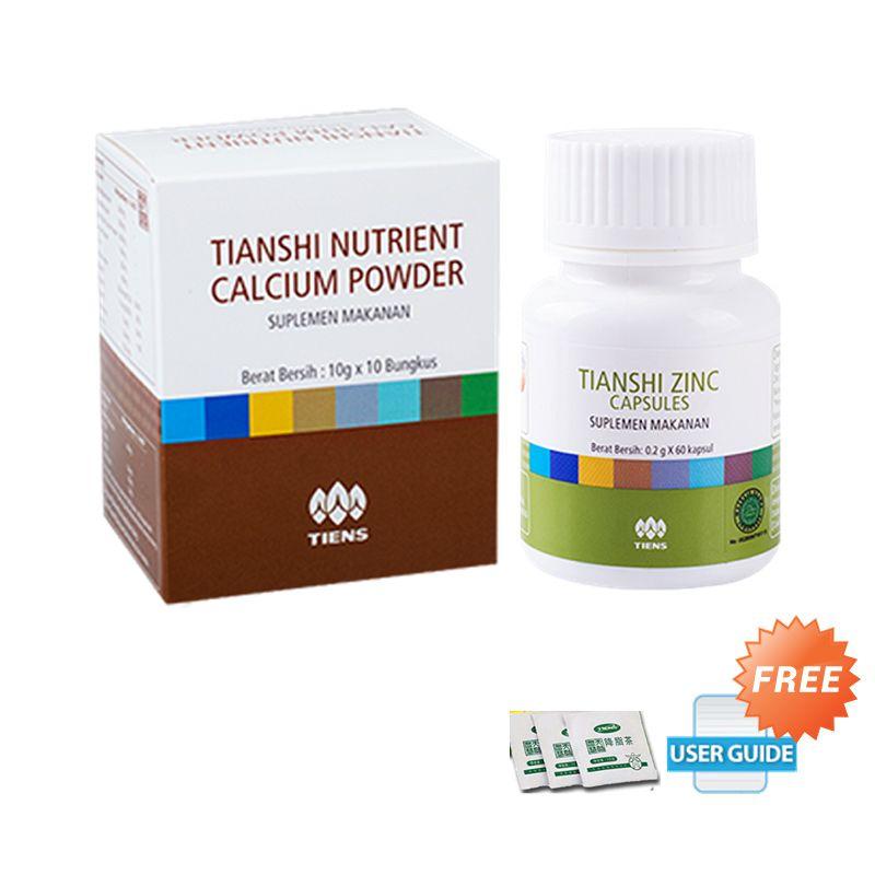 Tiens NHCP & Zinc Suplemen Peninggi Badan Paket + Panduan & Teh Detox