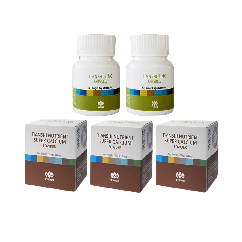 Tiens Pemulih Osteoposoris - Paket Gold [3 Calcium NHCP & 2 Zinc Premium]