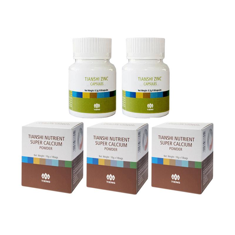 Tiens Peninggi Herbal - Paket Gold [6 Kalsium, 4 Zinc]