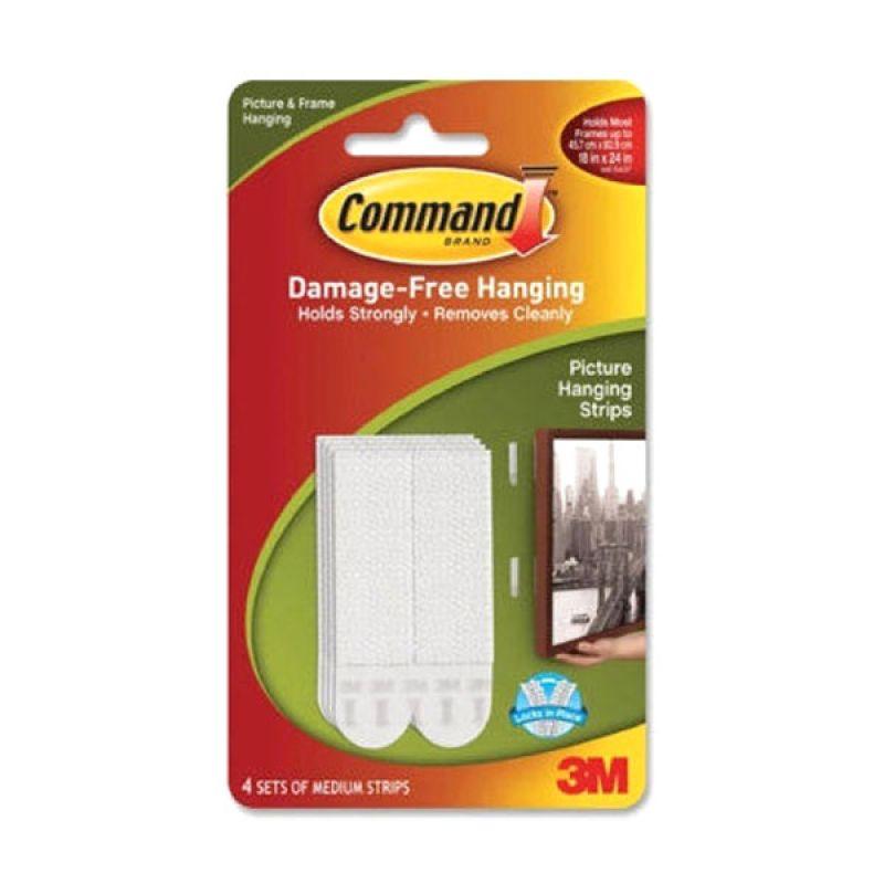 3M Command Medium Picture Hanging Strips - Putih