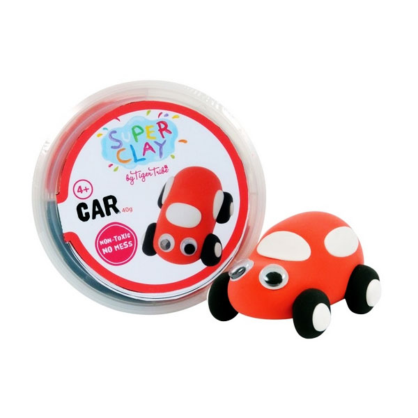 Tiger Tribe Super Clay Mini Tub CDUs Boys Car Mainan anak