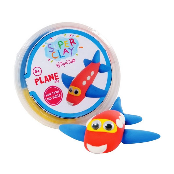 Tiger Tribe Super Clay Mini Tub CDUs Boys Plane Mainan anak