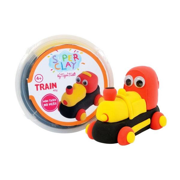 Tiger Tribe Super Clay Mini Tub CDUs Boys Train Mainan anak