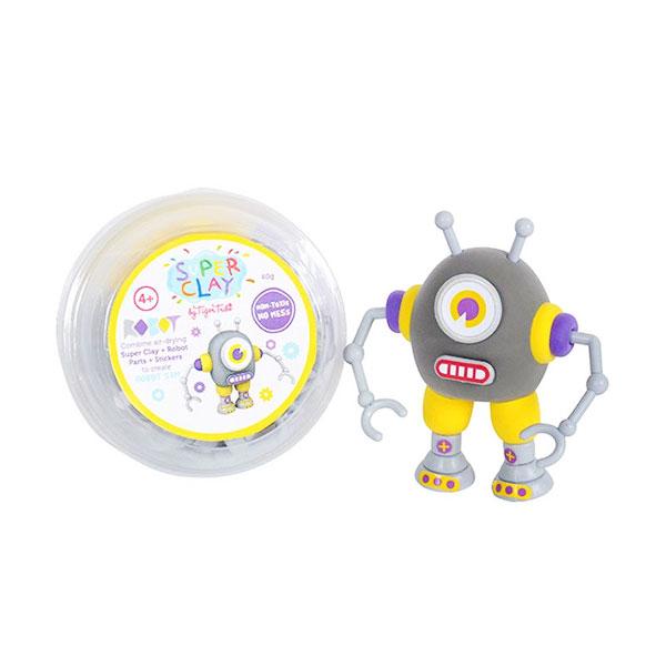 Tiger Tribe Super Clay Mini Tub CDUs Robots Sam Mainan anak