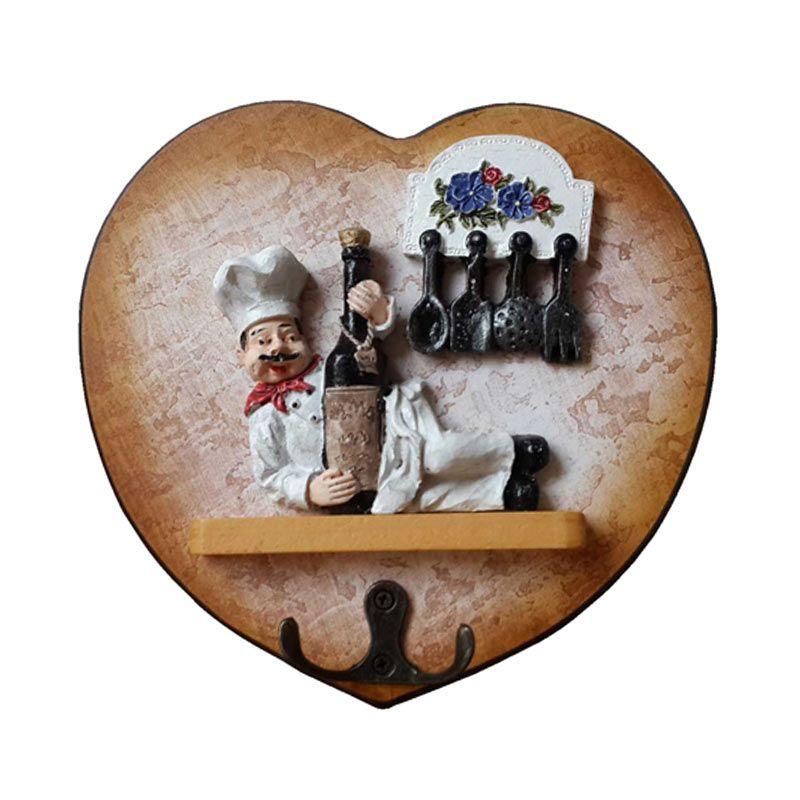 TilaVie Bentuk Love Motif Botol Gantungan Kunci