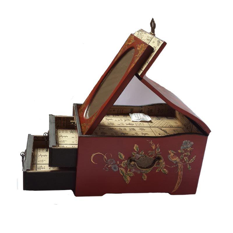 Dart TilaVie Kaca Oval Merah Kotak Perhiasan