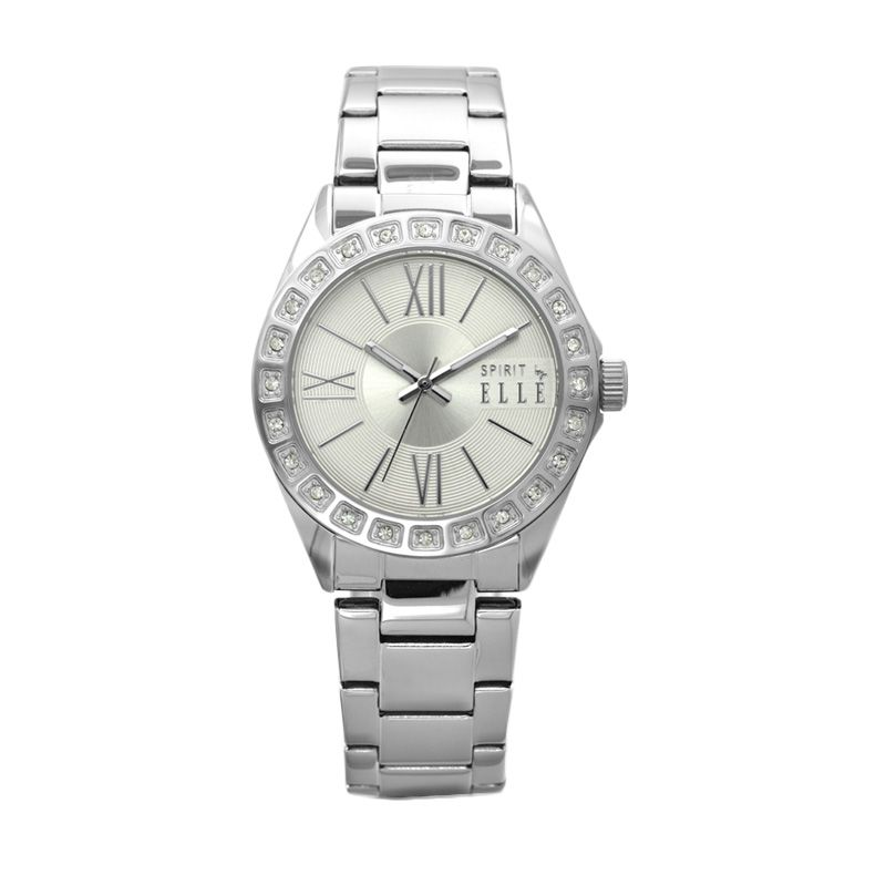 Elle Spirit ES20043B01X Silver Stainless Bracelet Jam Tangan Wanita