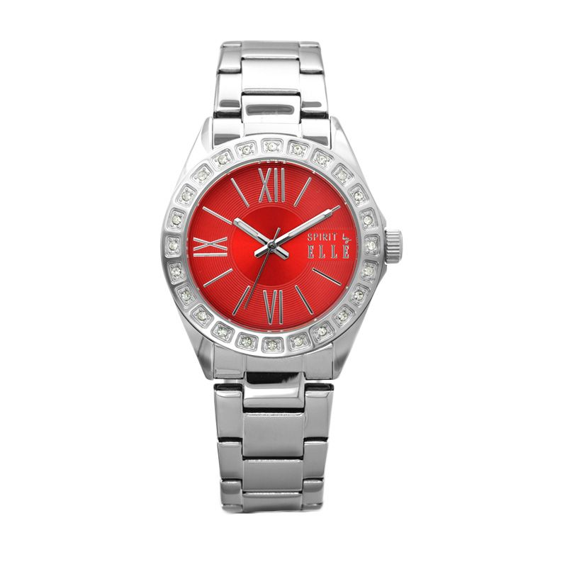 Elle Spirit ES20043B03X Silver Stainless Bracelet Jam Tangan Wanita
