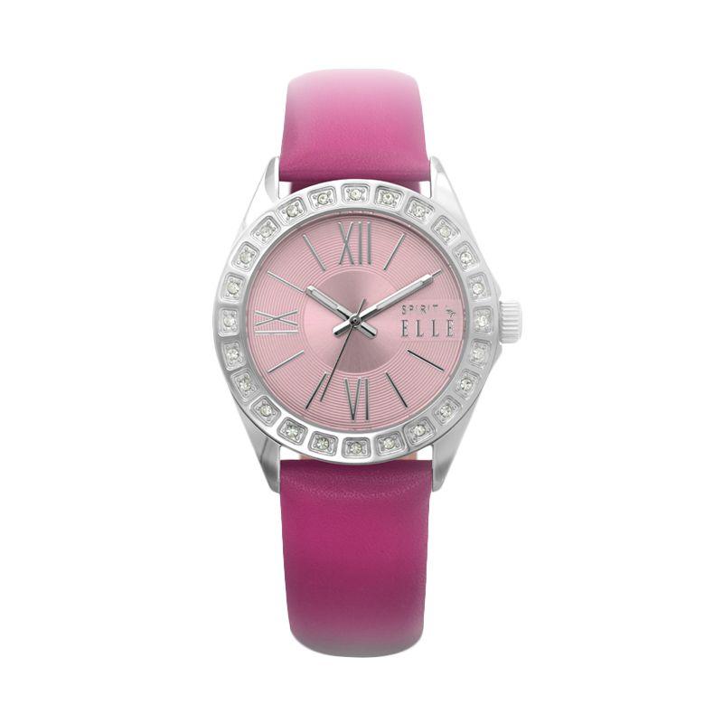 Spirit by Elle Leather ES20043S06X Pink Jam Tangan Wanita