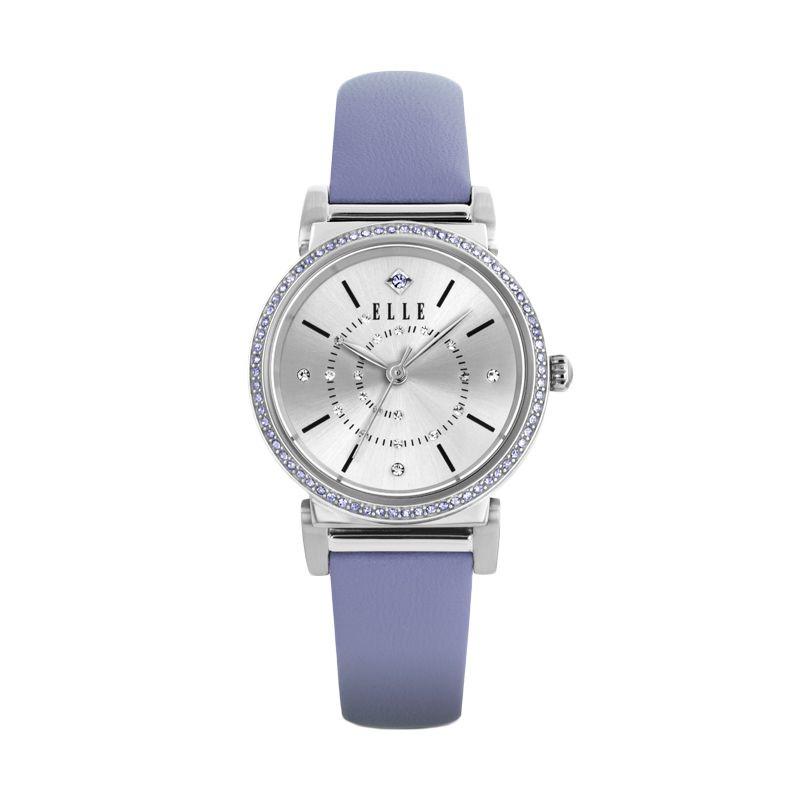 Elle Time EL20311S06C Leather Strap Lavender Jam Tangan Wanita