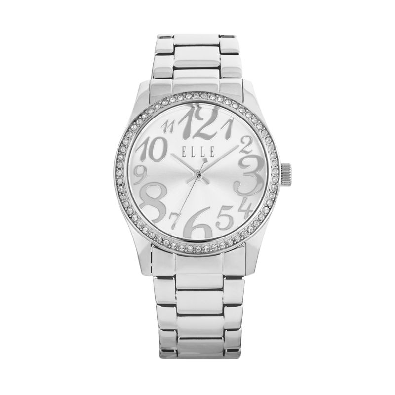 Elle Time EL20312B02C Stainless Bracelet Silver Jam Tangan Wanita