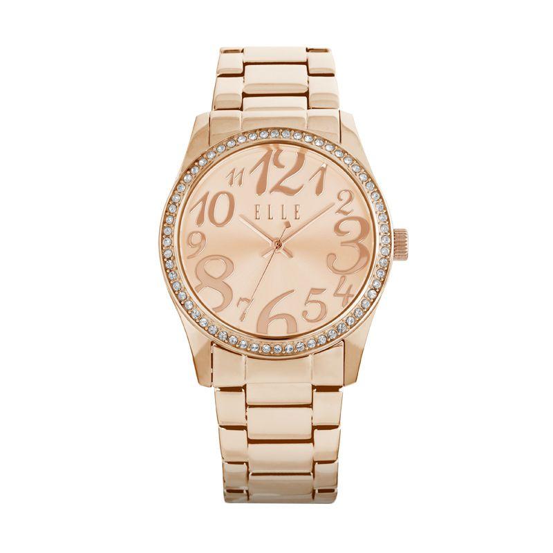 Elle Time EL20312B03C Stainless Bracelet Gold Jam Tangan Wanita