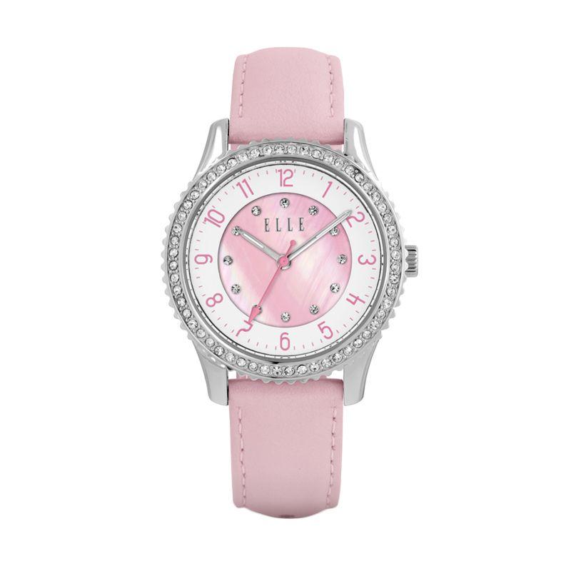 Elle Time EL20313S04C Leather Strap Pink Jam Tangan Wanita