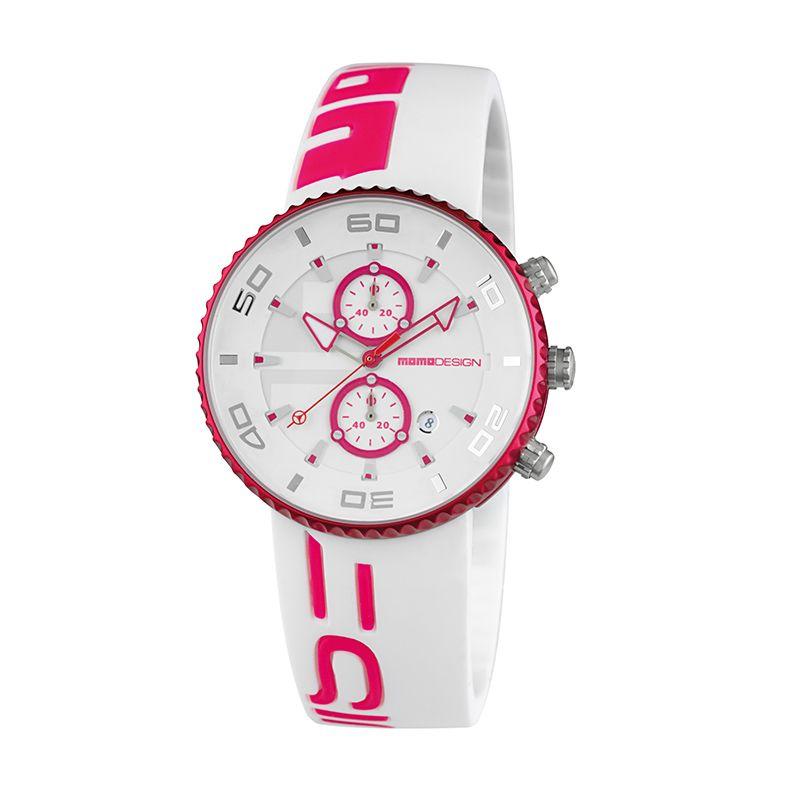 Momo Design MD4187AL-61 White Pink Jam Tangan Pria