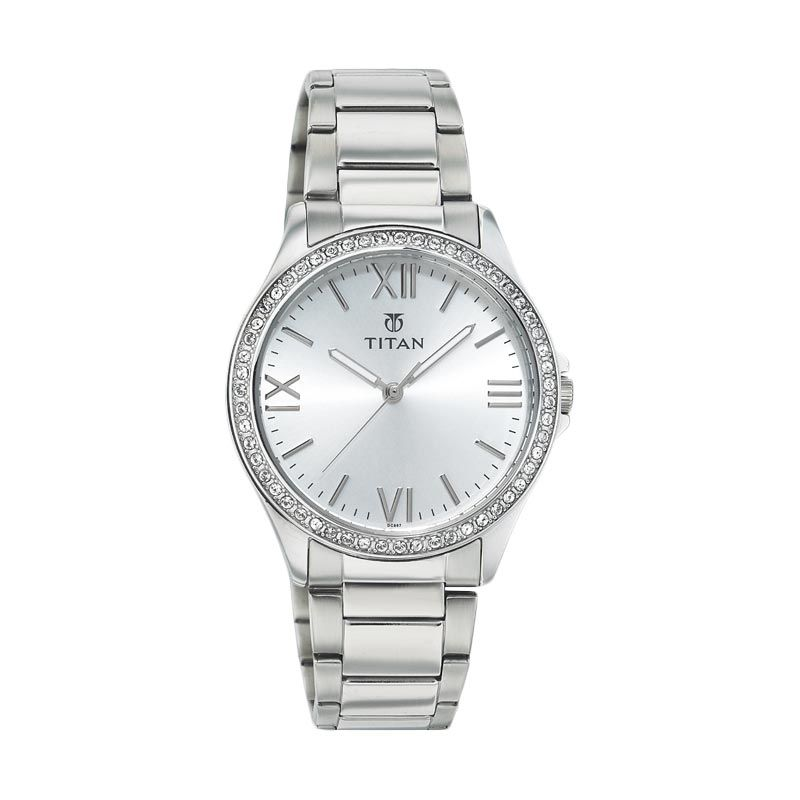 Titan TI 9955SM01 Silver Jam Tangan Wanita