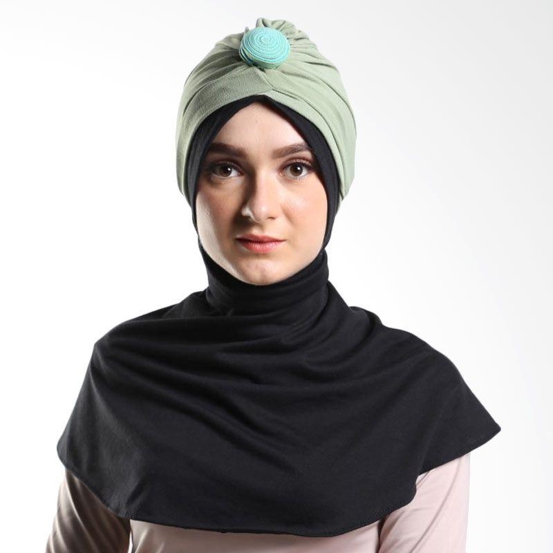 Tiras Turban Karina Besar Light Green Hijab